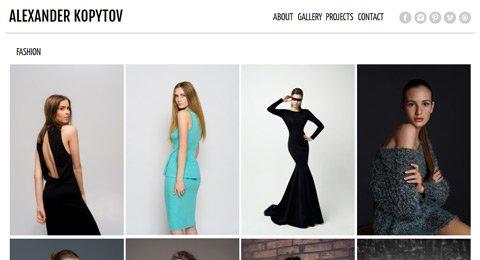 Створення сайту для фотографа